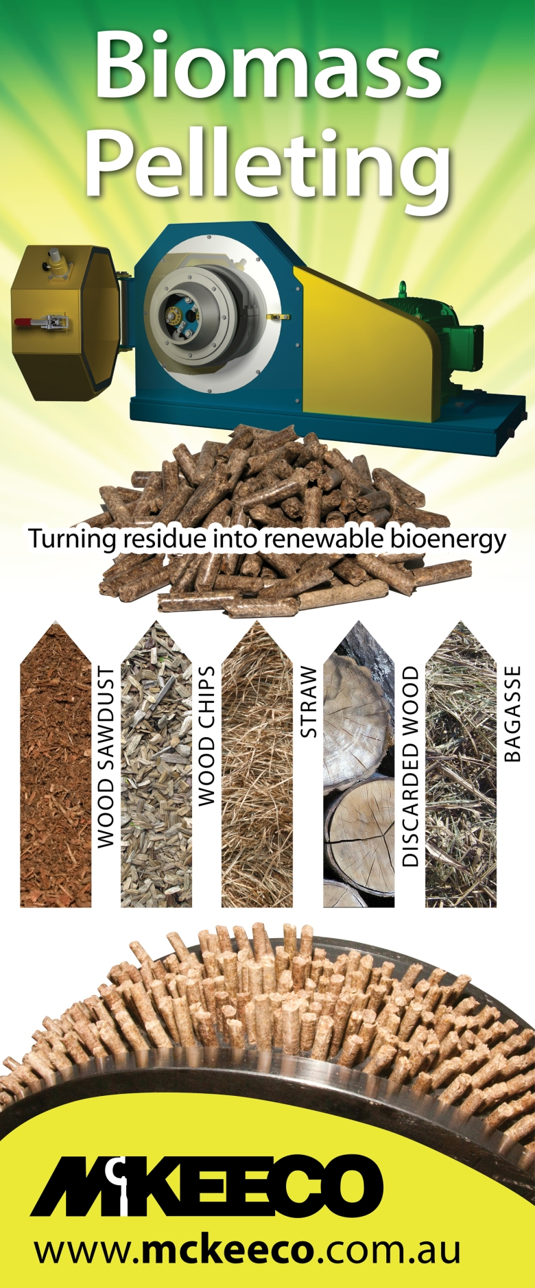 McKEECO biomass pelleting banner